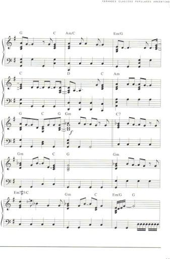 partituras para teclado. Partitura para piano de El
