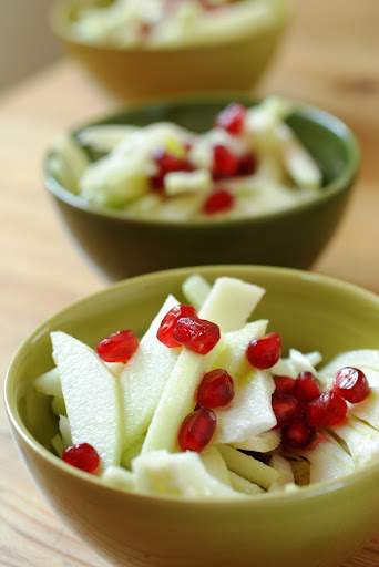 pomegranate, fennel and apple salad