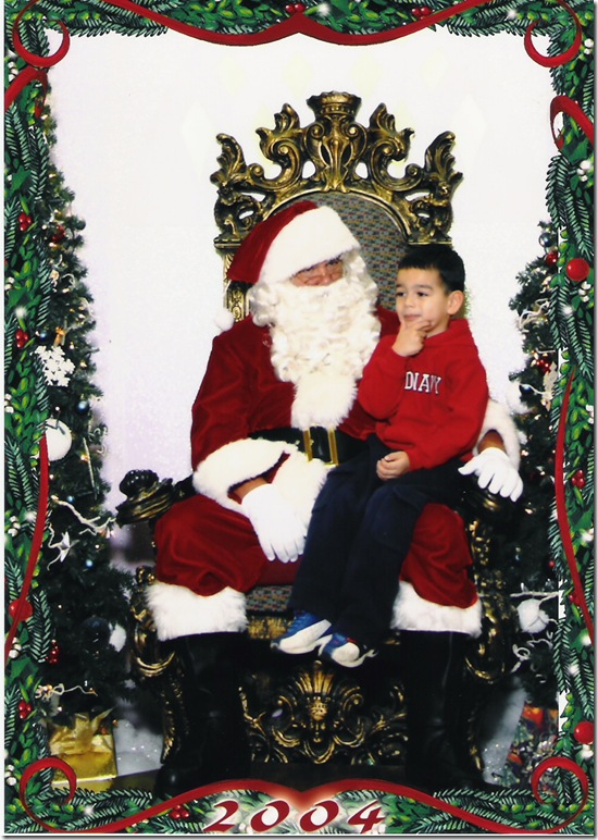 Christmas Santa Pic 2004