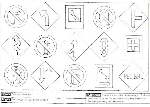 Dibujos para colorear de señales reglamentarias - Imagui