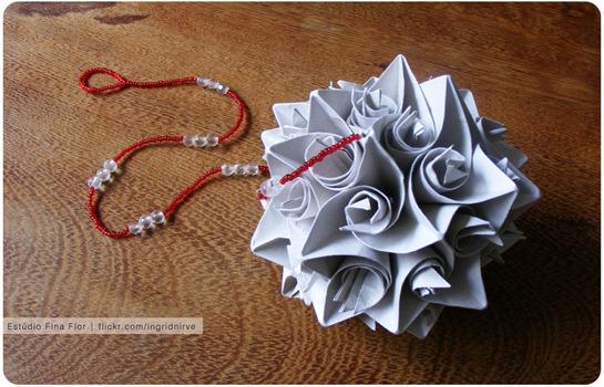 Móbile de origami - Kusudama