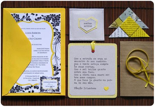 Convite e mimos - Luana&Marcelo