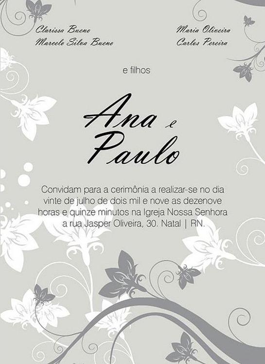 Convite Ana&Paulo