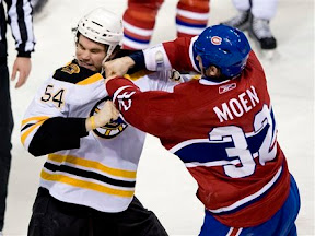Adam McQuaid vs Travis Moen