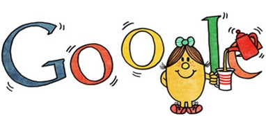 76th Birthday Of Roger Hargreaves-Little Miss Magic Google Doodle Logo