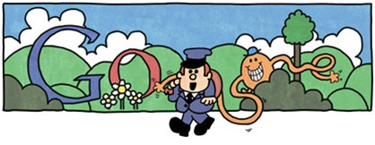 76th Birthday Of Roger Hargreaves-Mr Tickle Google Doodle Logo