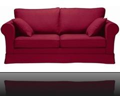 canapé clasique 3place rouge
