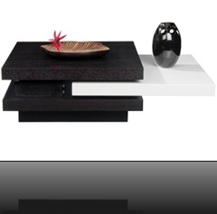 table basse design noir et blanc