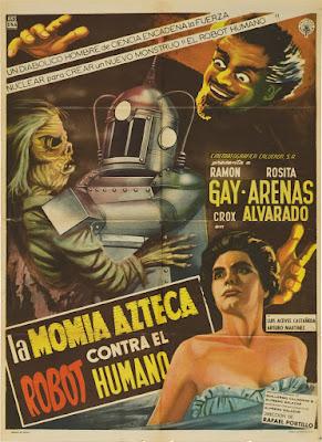 The Robot vs. the Aztec Mummy (La momia azteca contra el robot humano / Aztec Mummy vs. the Human Robot) (1958, Mexico) movie poster