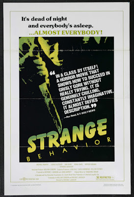 Strange Behavior (1981, Australia / USA / New Zealand) movie poster