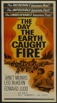 The Day the Earth Caught Fire (1961, UK) movie poster