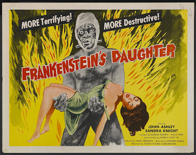Frankenstein's Daughter (1958, USA) movie poster