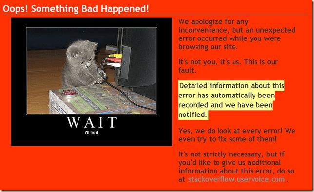 good error page