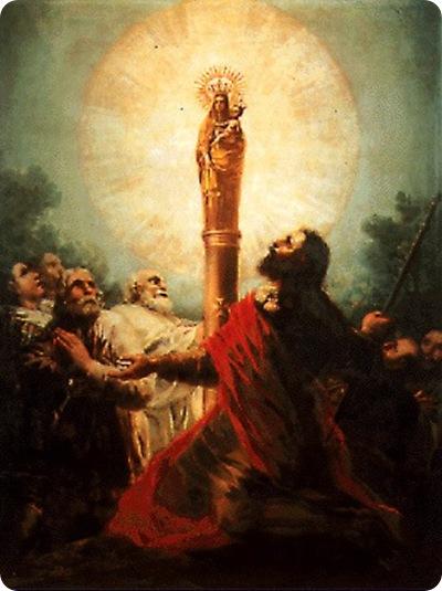 Aparición de Nuestra Señora del Pilar al Apóstol Santiago