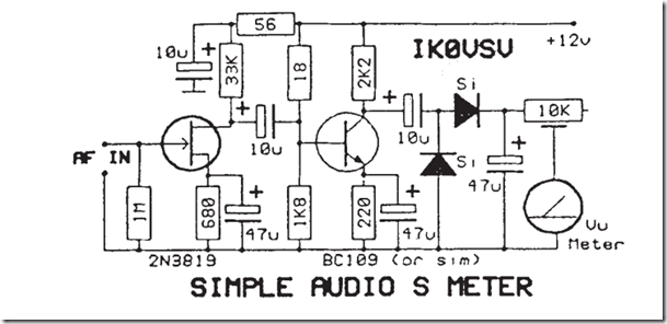 Radio Circuits Blog: Simple audio S meter