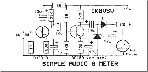radio circuits blog  simple audio s meter