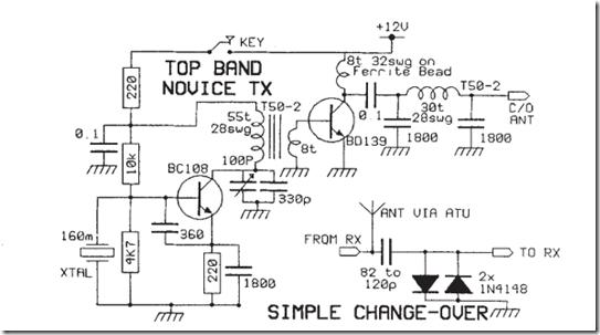 radio circuits blog  simple 160m novice transmitter