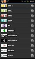 Screenshot of viewtelly Free UK TV