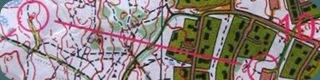 Карта с соревнований Vinter cup