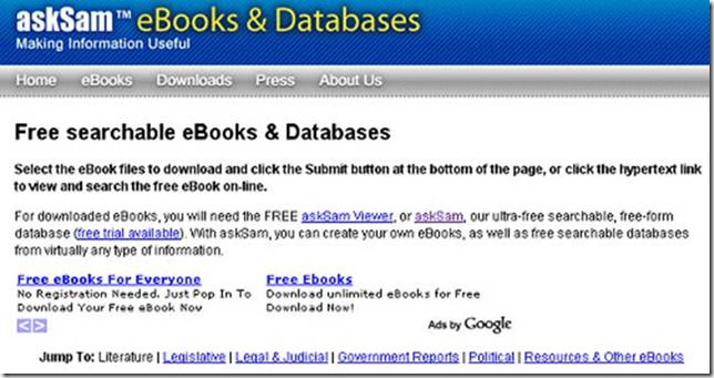 AskSam eBooks & DataBases
