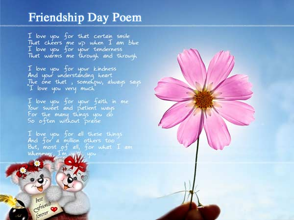 celebrity short friendship poems