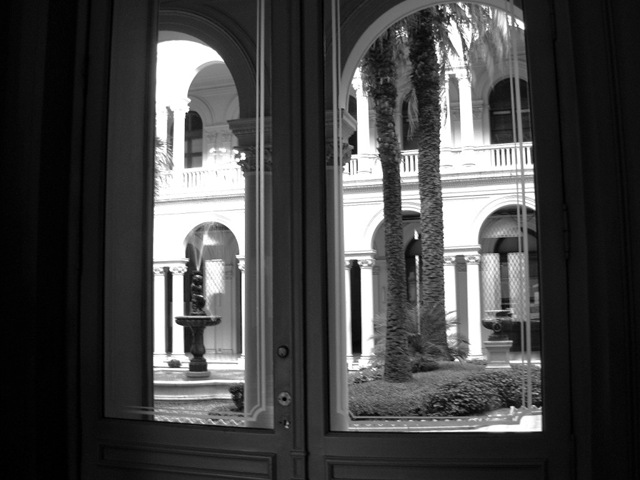 Casa Rosada Bs.As. Patio de las palmeras