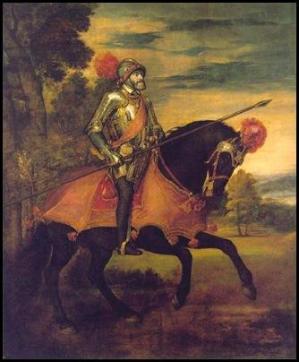 Tiziano Carlos V Retrato ecuestre