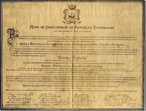 1910 Auto da Proclamação da República