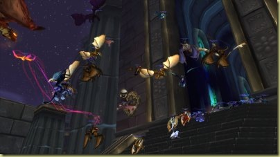 Have to wonder if 3.2 will add traffic lights to manage the traffic outside Ulduar.