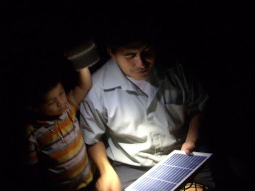 Solar Lamp Used at Night