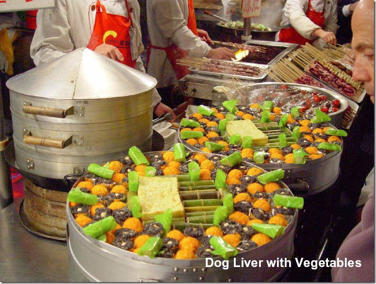 Dog Liver with vigetables