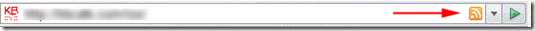 firefox address bar rss icon