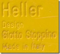 Yellow Heller label