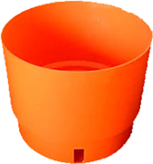 Orange Vastill round planter