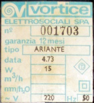 Ariante label, black