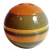La Boule in orange, green, and yellow