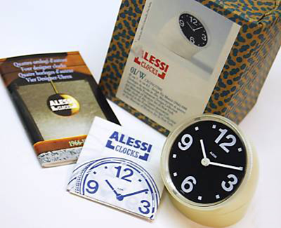 Alessi reissue of Cronotime clock