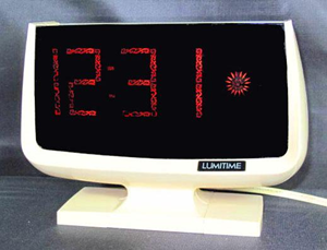 Lumitime C-31 clock, script readout