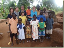 Family with Ugandan children
