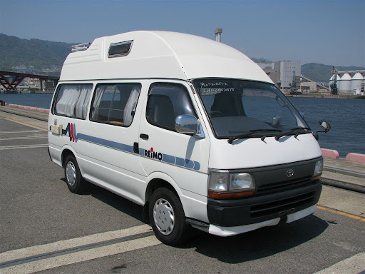 Top Hiace camper van – now