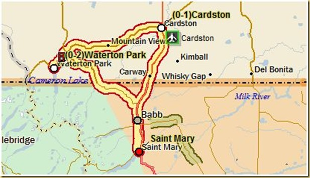 St.Mary to Waterton