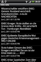 Screenshot of EHEC-Info