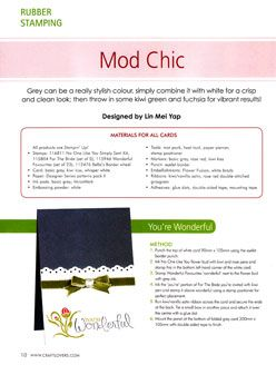 Cardmaking Stamping & Papercraft Vol 15 No 12 Mod Chic By Lin Mei Yap Pg 10