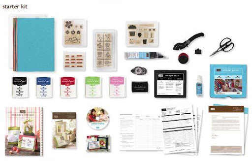 Items comprising Stampin' Up! starter kit