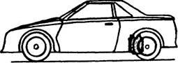 Rear-engined car.