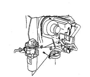 Typical valves in receiver installation.