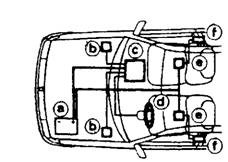Combined air-bag and pyrotechnic seatbelt crash protection system.