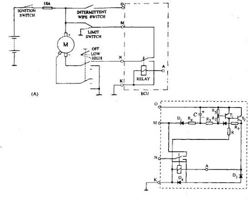 A Main Circuit For Intermittent Wipe Control B Relay: Audi A3 Wiper Wiring Diagram At Anocheocurrio.co