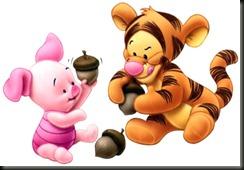 Tigger-Piglet-babies-acorn-autumn