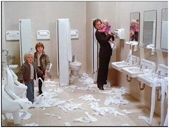 Mr. Mom bathroom